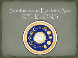Southern and Eastern Asia RELIGIONS