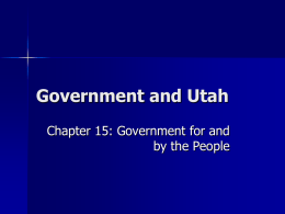Government and Utah - Mount Logan Middle School