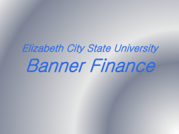 Banner Finance Navigation and Forms