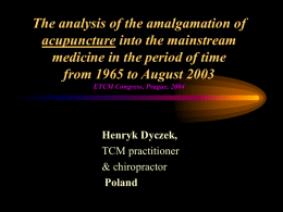The analysis of the amalgamation of Alternative Medicine