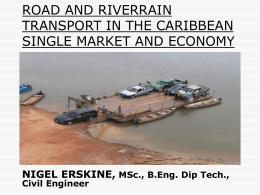 Road and Riverrain Transport in the CARICOM Single Market