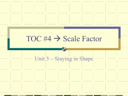 TOC #4 Scale Factor
