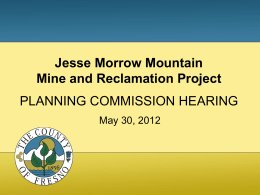 Jesse Morrow Mountain Mine and Reclamation Project