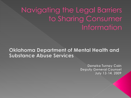 Navigating the Legal Barriers to Sharing Consumer Information