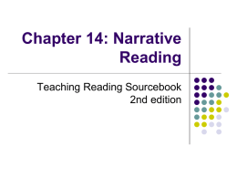Chapter 14: Narrative Reading