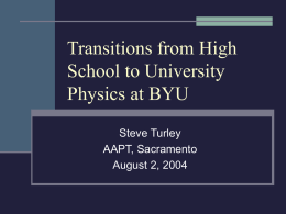 Recruiting and Retaining Physics Majors at BYU