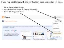 If you had problems with the verification code yesterday