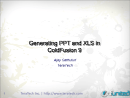Generating PPT and XLS in ColdFusion 9