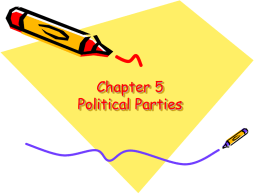 Chapter 5 Political Parties - Big Walnut Local School District
