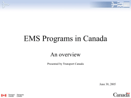 EMS Programs in Canada - International Helicopter Safety