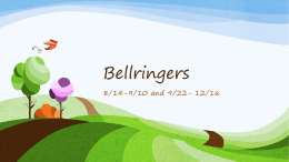 Bellringers - Bibb County Public School District