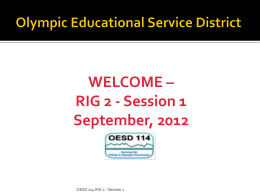 Entry Task - Olympic Educational Service District