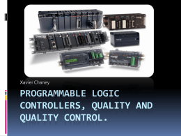 Programmable Logic Controllers, Quality And Quality Control.