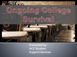 Ongoing Survival - Halifax Community College