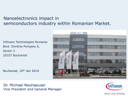 INFINEON Technologies Romania as a center of competences