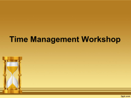 Diapositiva 1 - Time Management PPT