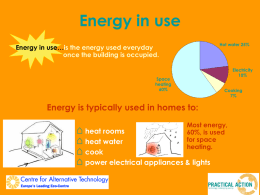 Energy in use ppt - Sustainable Design Award