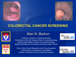 Colorectal Cancer Screening Pilot Project