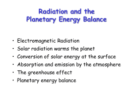 Planetary Energy Balance and Radiative Transfer
