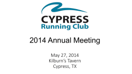 2013 Annual Meeting - Cypress Running Club