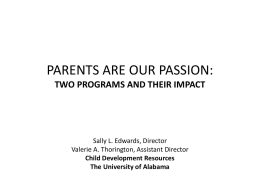 PARENTS ARE OUR PASSION: - Engagement Scholarship …