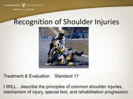 Recognition of Shoulder Injuries