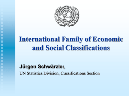 Introduction to the International Family of Classification
