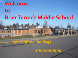 Welcome to Brier Terrace Middle School