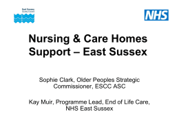 Nursing & Care Homes Support – East Sussex