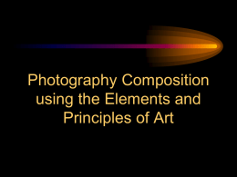 Photography Composition using the Elements and Principles
