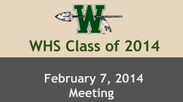 WHS Class of 2014 - Waxahachie Independent School District