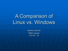 A Comparison of Linux vs. Windows