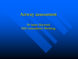 Airway assessment preoperatively