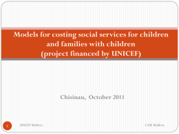 Models for costing the staff and services for children and