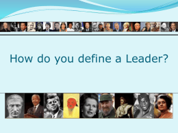 Leadership…what is it?