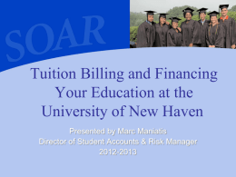 Tuition Billing and Financing Your Education at the