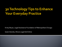 30 Tech Tips for Advocates