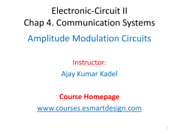 Electronic-Circuit II Chap 4. Communication Systems