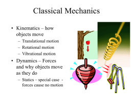 Classical Mechanics - United States Naval Academy