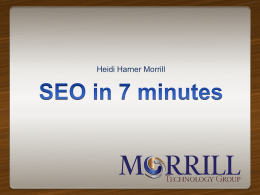 SEO in 7 Minutes