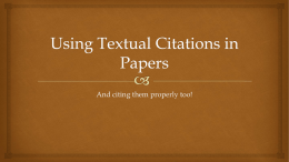 Using Textual Citations in Papers