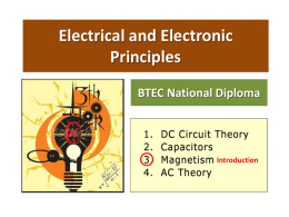 Electrical & Electronic Principles