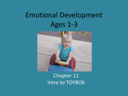 Emotional Development from 1-3