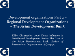 ECONOMIC DEVELOPMENT & INTERNATIONAL POLITICS …