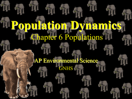 Population Dynamics Miller 11th Edition Chapter 10
