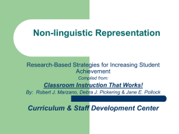 Non-Linguistic Representations PowerPoint