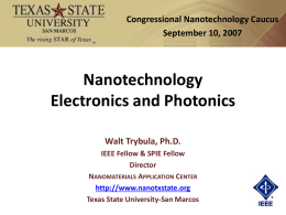 Nanotechnology Electronics and Photonics