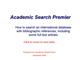 Academic Full Text Search Elite
