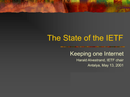 The State of the IETF