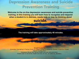 Depression Awareness & Suicide Prevention